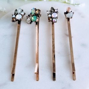 Pairs of Crystal Decorated Hair Pins